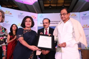 Dr. Shelly Batra receives certificate from Finanace Minister